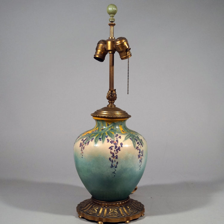 Royal Doulton Art Pottery Floral Lamp